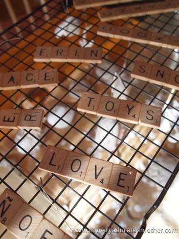 #NUO2013 Scrabble #Ornaments 2 #Christmas