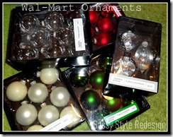 wal mart ornaments