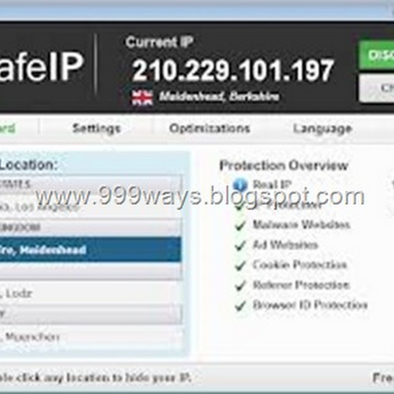 How to hide IP address