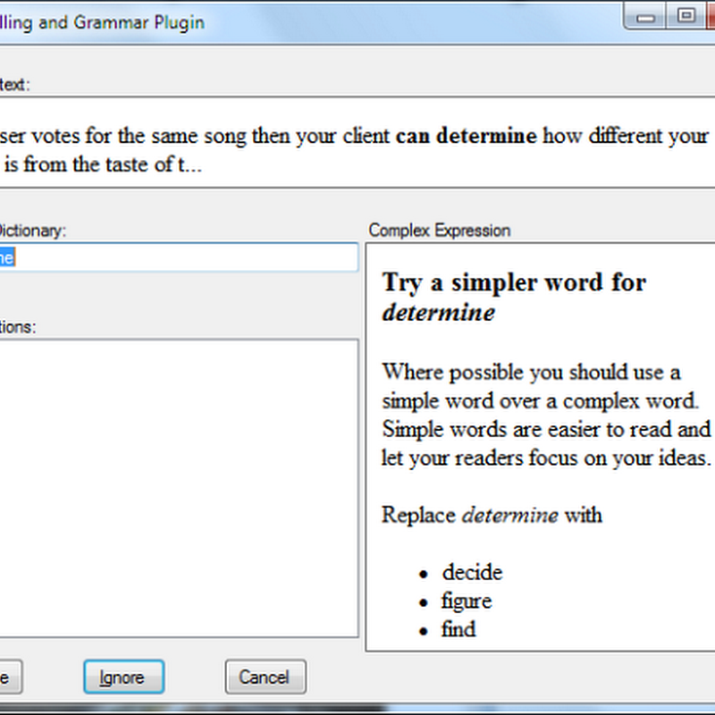 'After the Deadline' Grammar/Spell Checker Plugin For Windows Live Writer