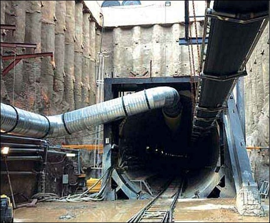 TBM shaft