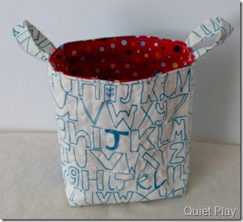 Summerville fabric basket backing