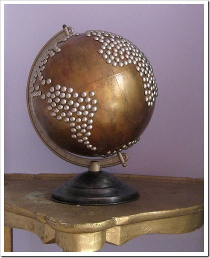 repainted metallic globe