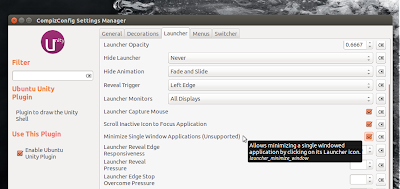 "CCSM opzione ""Minimize Single Window Applications (Unsupported)"""
