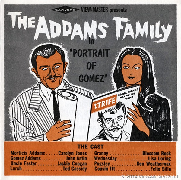 View-Master The Addams Family B486 Booklet Cover