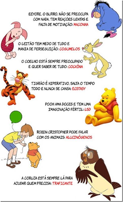 Destruindo sua infância e provando que os personagens de Ursinho Pooh usam drogas