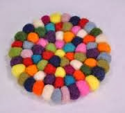 Woolen Felt Ball Table Mat