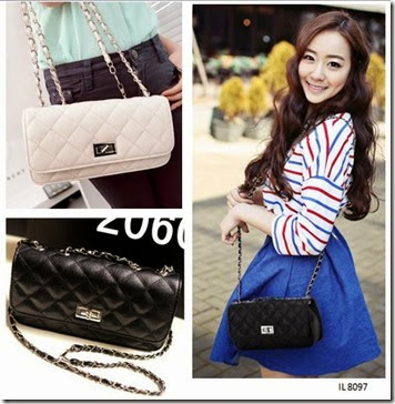 IL 8097 Black - White (163.000) - PU Leather, 15 x 26 x 6