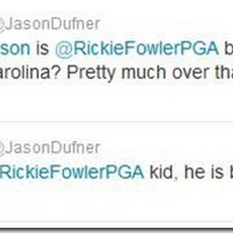 "Jason Dufner Calls Rickie Fowler A ""Total Prick"" in Twitter Row!"