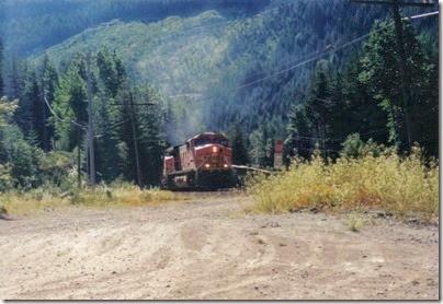 BNSF C44-9W #4699 at Berne, Washington in 2000