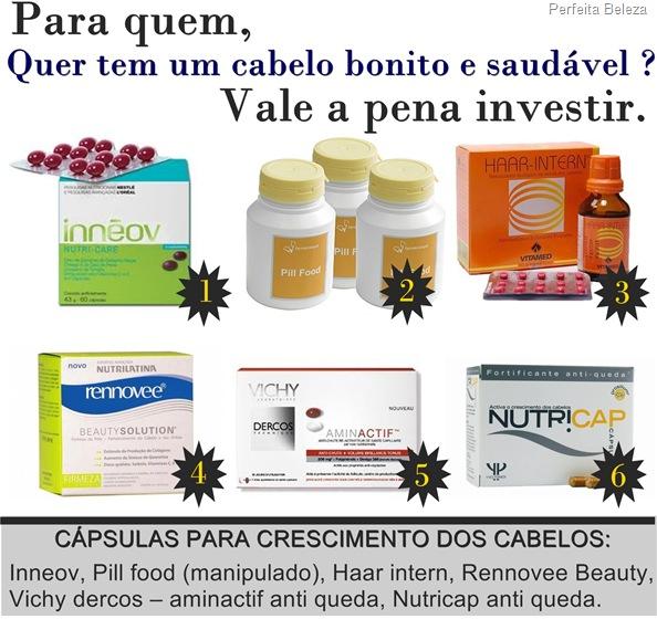 capsulas para o crescimento dos cabelos -nutricap,pill food,inneov,vichy,rennovee,haar intern
