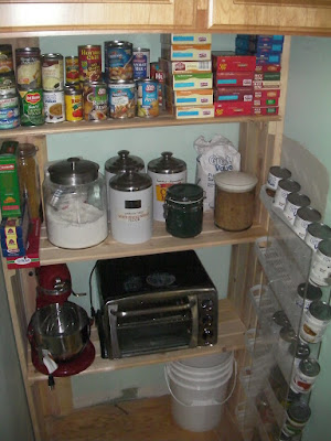Stuff on my shelves! I doubt the kitchen appliances will stay  there.