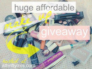 athriftymrs huge affordable makeup giveaway