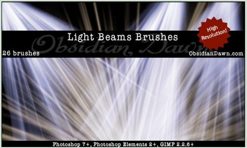 light beams brushes
