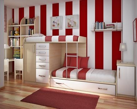 habitacion-niños-color-rojo-blanco
