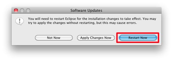 Mac eclipse restart now