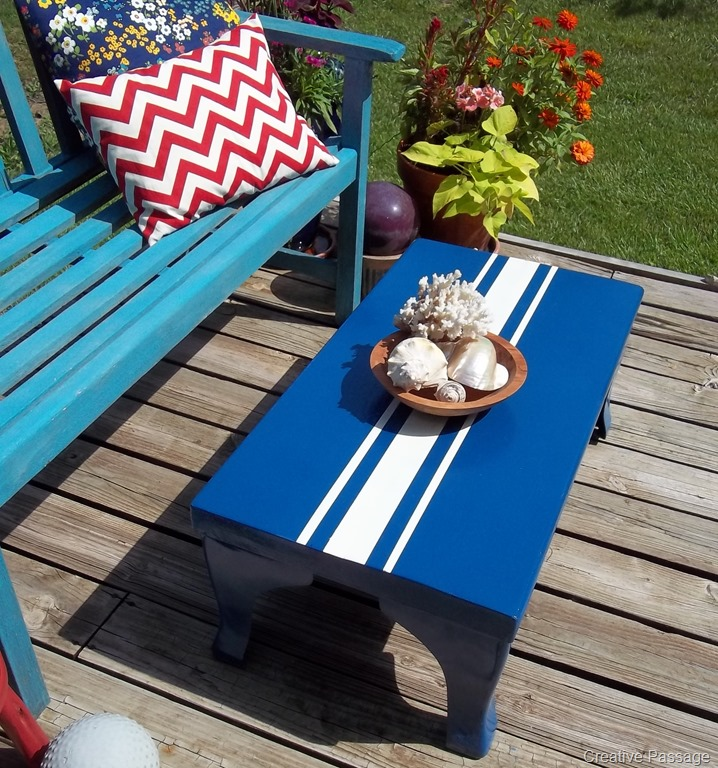 Bench turned Coffee Table Makeover