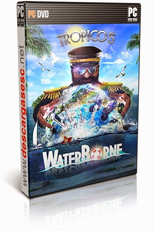 Tropico.5.Waterborne.MULTI6-POSTMORTEM-pc-cover-box-art-www.descargasesc.net