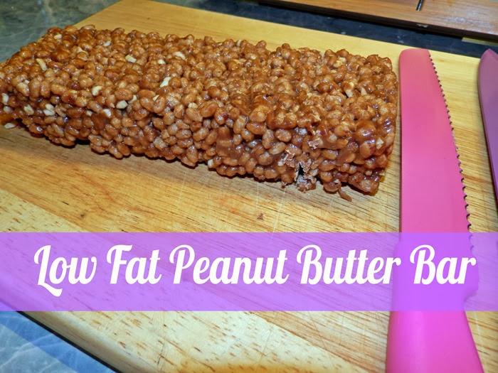 low fat peanut butter bar