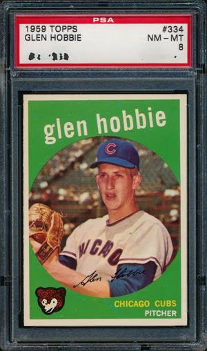 1959 Topps 334 Glen Hobbie
