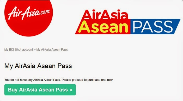 Buying an AirAsia Asean Pass