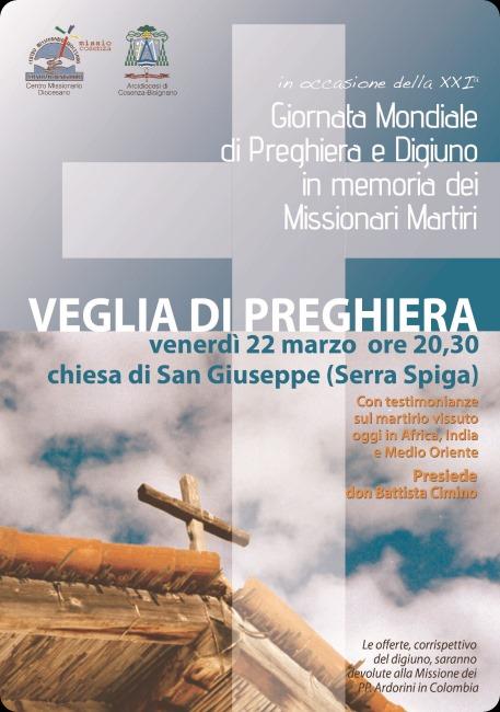 veglia missionari martiri 2013