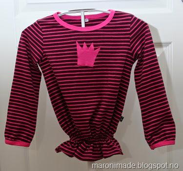 genser med rynking og krone