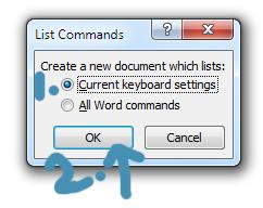 list commanda
