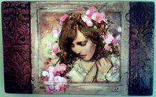 Young girl surround by blossoms by Annie Henrie 2011