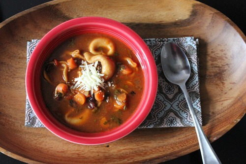 cheese tortellini and black bean soup
