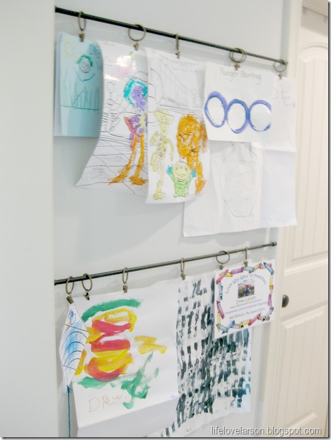 kids artwork display 1