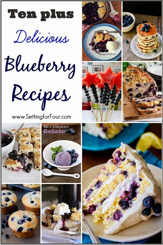 Ten Plus Delicious Blueberry Recipes the whole family will love!