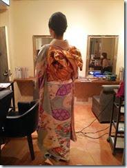 シュシュ美容室に振袖の出張着付け (3)