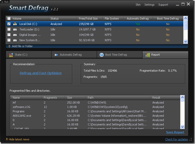 iobit smartdefrag 2