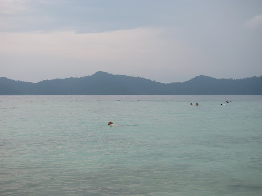 Snorkeling around one of the islands.