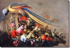 6 17 Cornelis de Heem (Dutch Baroque Era Painter, 1631-1695) Still Life with Bird