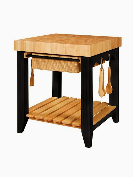 Powell 502 416 1 Butcher Block Kitchen Island