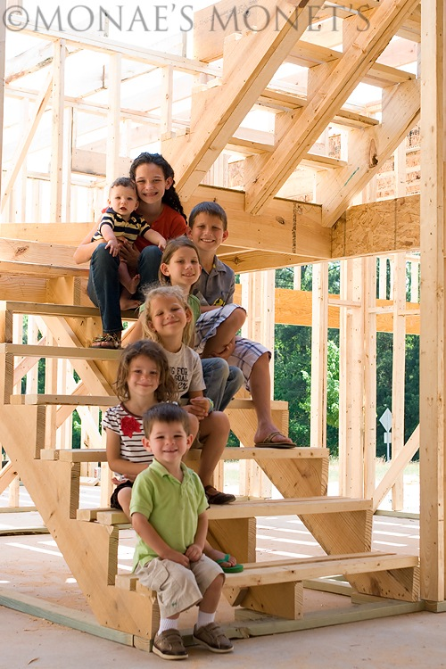 kids on framed stairs blog