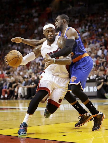lebron james nba 140406 mia vs nyk 03 King James Debuts Power Couple Soldier 7 for NBA Green Week