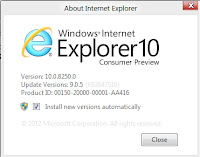 Internet Explorer 10 Consumer Preview also comes bundled in Windows 8