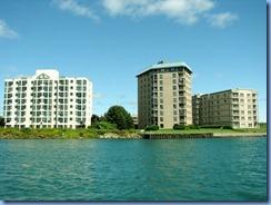 5071 Michigan - Sault Sainte Marie, MI -  St Marys River - Soo Locks Boat Tours - shoreline on Canadian side