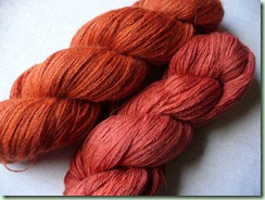 Madder dyed skeins