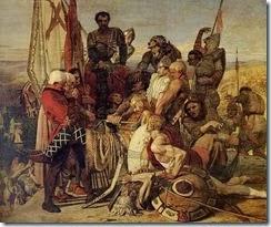 FordMadoxBrown--TheBodyofHaroldbroughtbeforeWilliamtheConqueror1844-61