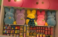 Peeps bunny display