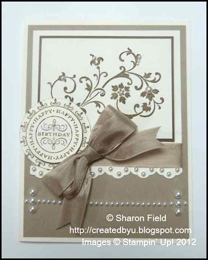 SQSC35_Sharon_Field lots of pearls and a fun monochromatic card