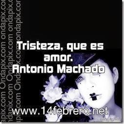 Tristeza, que es amor. Antonio Machado