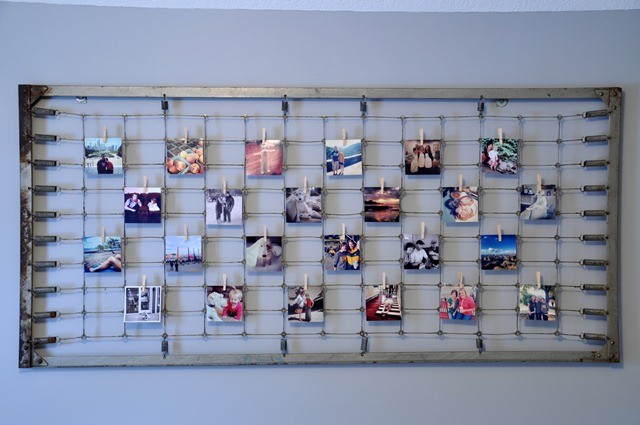 Instagram Photo Display Using Old Crib Spring