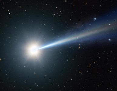 ilustração de um quasar distante