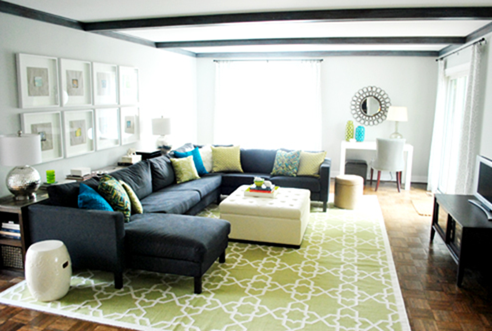 Modern Eclectic Living Room from Young House Love