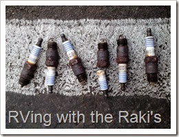 New spark plugs can be very important to keeping an RV engine running well.